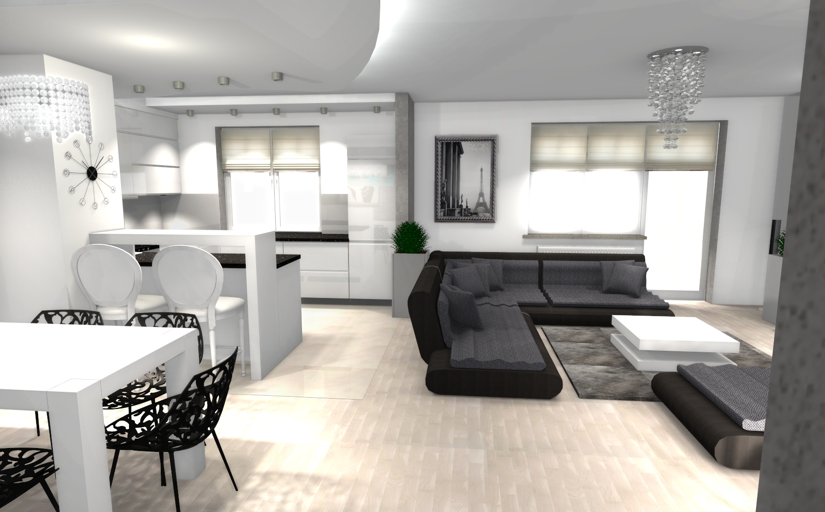 artehaus projektowanie wn trz na odleg os online. Black Bedroom Furniture Sets. Home Design Ideas